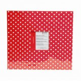Album photo 30x30 cm - pois blanc rouge
