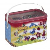 Baril 10 000 perles midi mix 22 couleurs - Hama