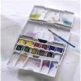 Aquarelle fine Cotman - Assortiment Pocket Plus - 12 demi-godets