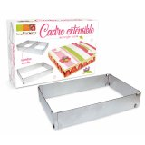 Cadre à pâtisserie extensible rectangle - inox - Scrapcooking