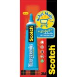 Tube de colle Scotch® transparente sans solvant 30 ml tube aluminium
