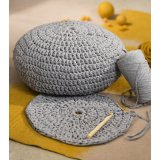 Yellow and Grey - Housse de pouf