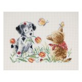 Kit broderie -  chien chat
