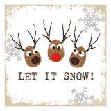 20 serviettes - Oh ! Let it snow ! - 33x33cm