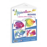 Recharge aquarellum junior - poissons