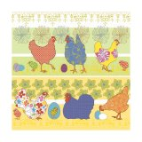 Serviette - Chickens yellow - 33x33cm