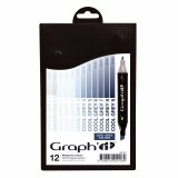 Set de 12 marqueurs Graph'It - Cool Greys