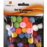 Set 50 pompons diamètre 20mm coloris assortis