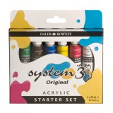 Set acrylique 6x22ml SYSTEM 3 starter