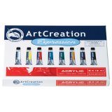 Set Acrylique ArtCreation Expression - 8 tubes