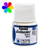 Setacolor opaque Pébéo - 45ml - blanc