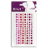120 strass et perles roses rouges