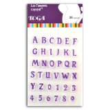 36 tampons Crystal alphabet et chiffres