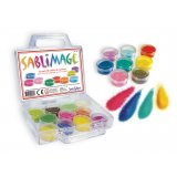 Sablimage - Valisette avec 18 pots de sable coloré
