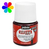 Vitrea 160 brillant - rouge indien - 45ml - Pébéo