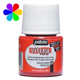 Vitrea 160 brillant - rouge pigment - 45ml - Pébéo