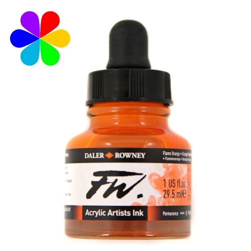 Encre Artists FW 29.5ml Flame Orange