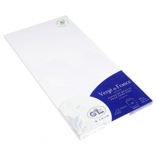 25 cartes triptyques Lalo Vergé - 160x160 mm - 210 g - extra-blanc