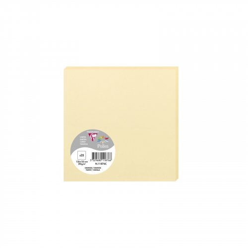 25 cartes Pollen 135x135 mm  - Chamois