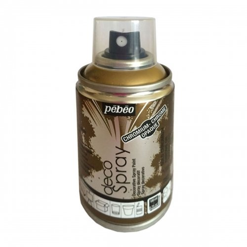 Bombe de peinture - DecoSpray - Chrome Doré Brillant - 100 ml - Pébéo