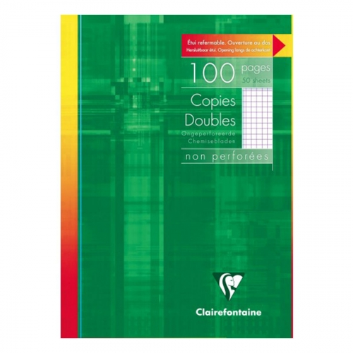 Copies doubles - 21 x 29.7 cm - 100 pages - Petits carreaux