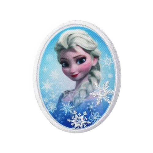 Motif Thermocollant Reine des Neiges - Elsa Oval