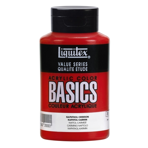Acrylique Basics 400ml rouge naphthol carmin