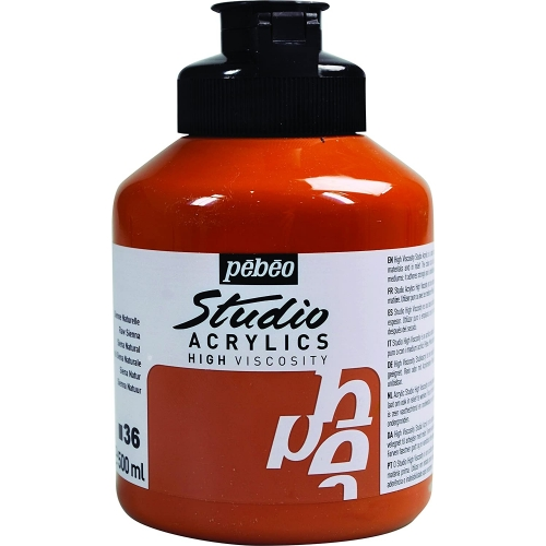 Studio Acrylics - 500ml - sienne naturelle