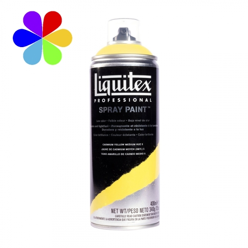 Spray Paint 400 ml - jaune cadmium foncé - n°5163