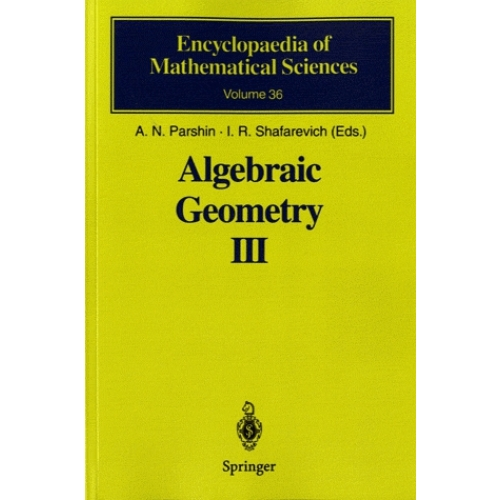 Algebraic Geometry - Book 3, Complex Algebraic Varieties, Algebraic Curves and Their Jacobians