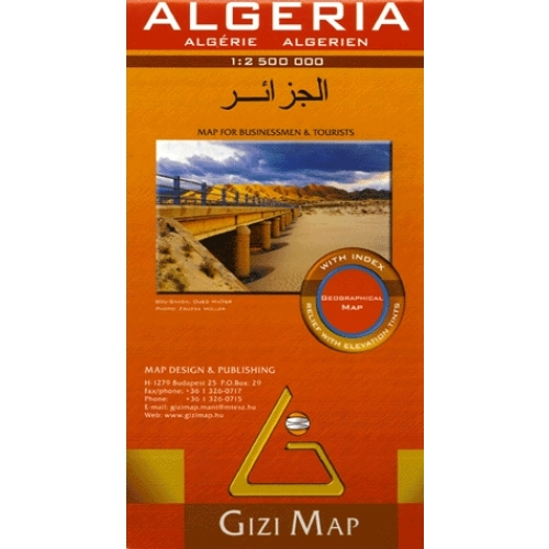 Algeria Map for Businessmen & Tourists