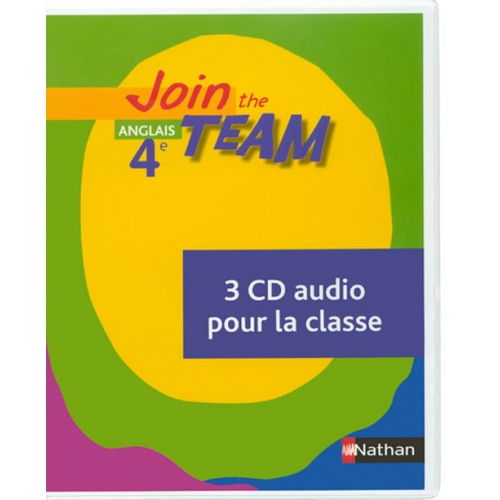 Anglais 4e Join the Team - 3 CD audio pour la classe