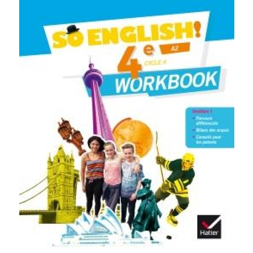 Anglais 4e Cycle 4 A2 So English! - Workbook
