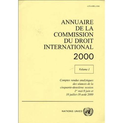Annuaire de la Commission du droit international 2000