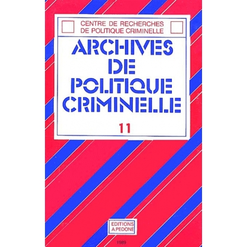 Archives de politique criminelle N° 11