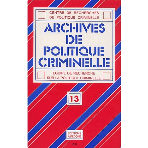 Archives de politique criminelle N° 13