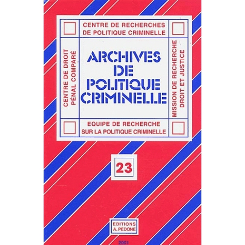Archives de politique criminelle N° 23