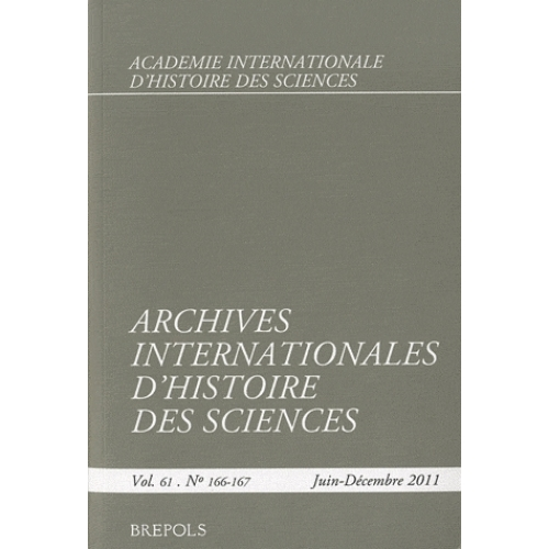 Archives Internationales d'Histoire des Sciences