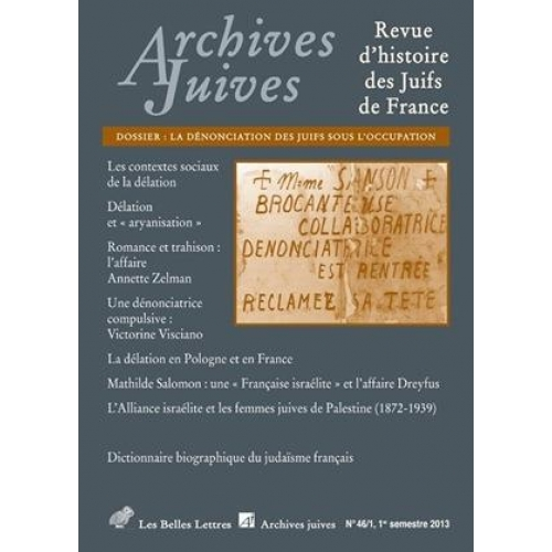 Archives juives 46/1 2013