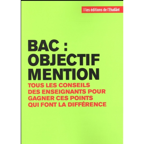 Bac : objectif mention