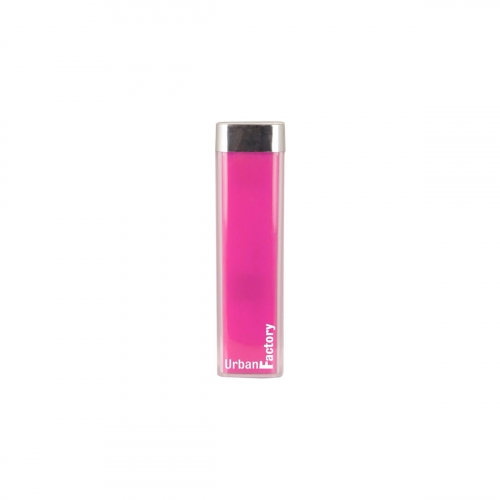Batterie externe de secours Urban Factory - fuchsia - 2600 MAH