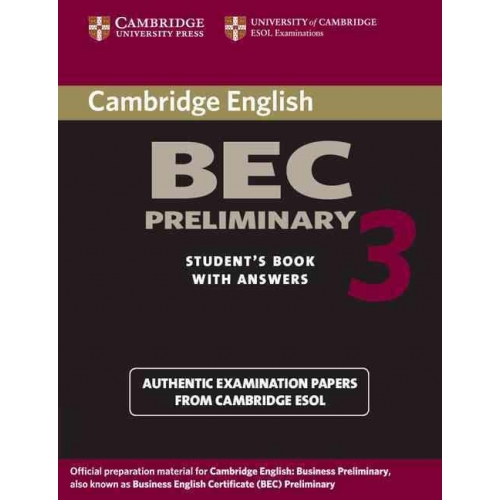 BEC Preliminary Student's Book with Answers