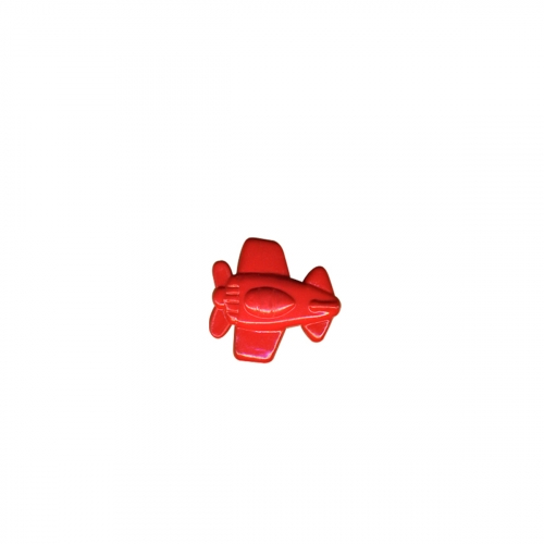 Bouton avion - rouge - 18mm