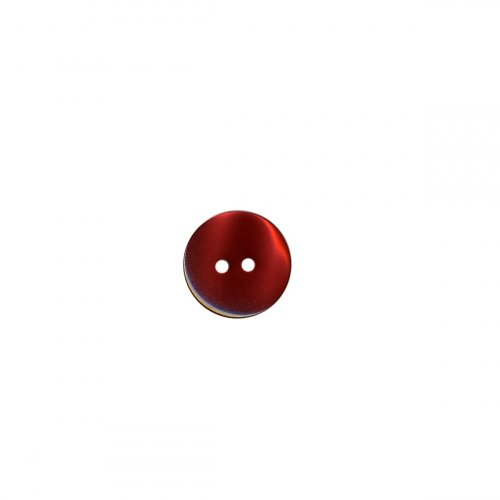 Bouton chemise rond - rouge - 13mm