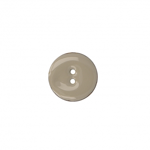 Bouton 2 trous - taupe - 30mm