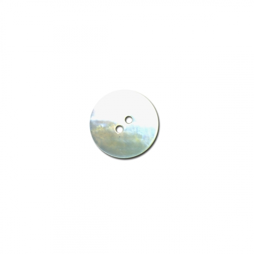 Bouton rond - nacre blanc - 18mm