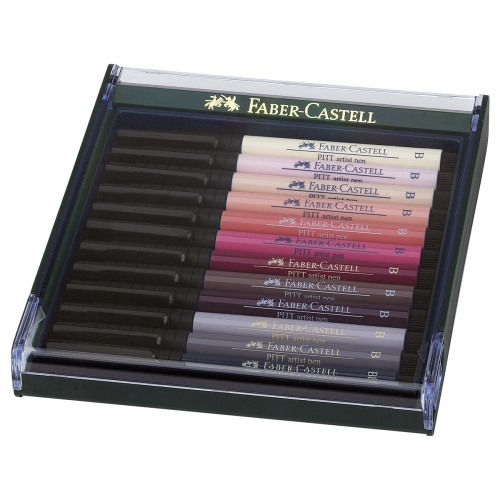 Box de 12 artist pen brush Pitt Chairs - Faber Castell