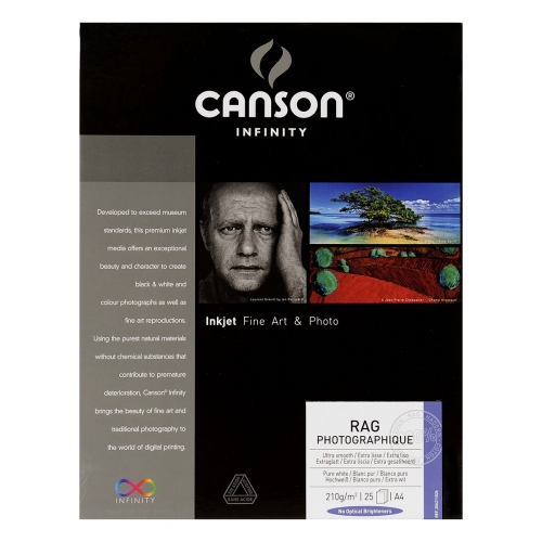 25 feuilles Rag Photo - A4 - 210G - Canson Infinity