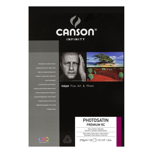 25 feuilles PhotoSatin Premium RC - A3+ - 270G - Canson Infinity