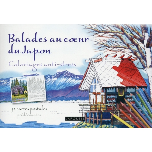Balades au coeur du Japon - Coloriages anti-stress